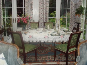The Orangery laid for dinner